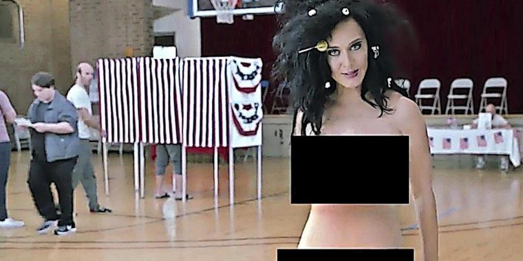 Katy Perry in einem Wahlwerbevideo auf YouTube.