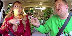 """Weihnachtsfeeling pur: Mariah Carey und James Cordon schmettern """"All I want for Christmas""""."""