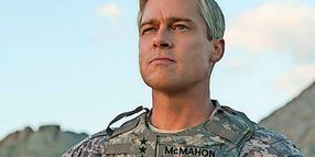 "Star Brad Pitt im Film ""War Machine""."