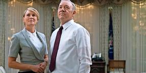 "Die ""House of Cards""-Stars Robin Wright und Kevin Spacey."
