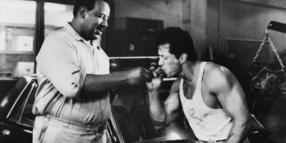 "Frank McRae (links) mit Sylvester Stallone im Film ""Lock Up""."