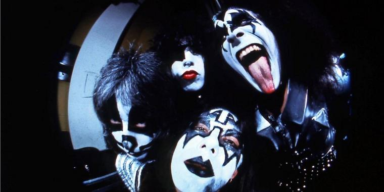 Rocklegenden: Gene Simmons, Ace Frehley, Paul Stanley und Peter Criss.