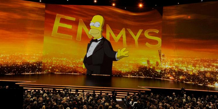 Cartoon-Star Homer Simpson eröffnete die Emmy-Awards.