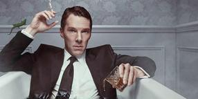 "Ein Gecko als surreales Element: Benedict Cumberbatch arbeitet in der Serie ""Patrick Melrose"" in und mit Whiskey."