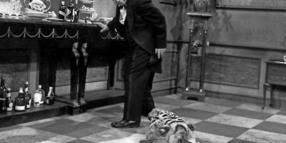 """Same procedure as every year..."" Freddie Frinton alias Butler James in ""Dinner for One"""