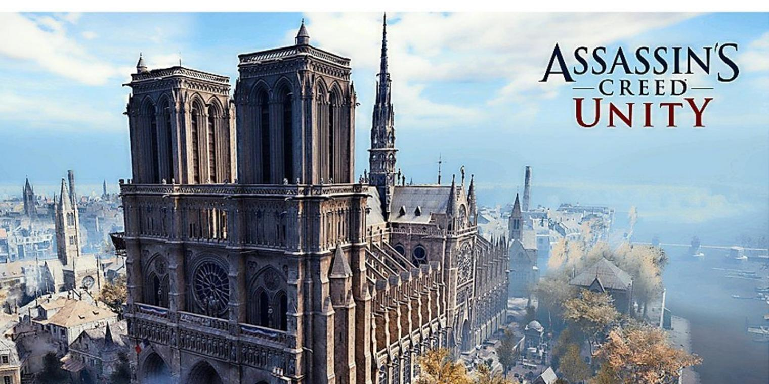 """Notre-Dame im Videospiel """"Assassin's Creed Unity""""."""