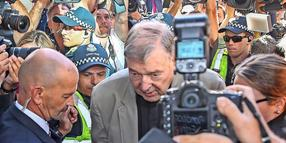George Pell am Gericht in Melbourne.