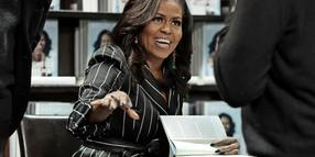 "Michelle Obama bei einer Lesung aus ihrem Memoiren ""Becoming""."