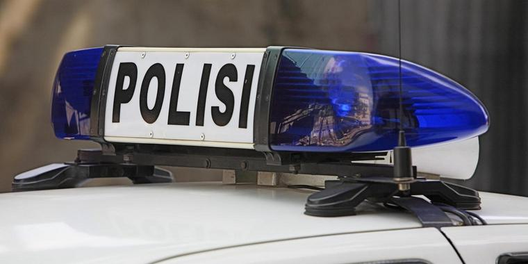 Polizeiauto in Indonesien.