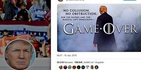 "Donald Trump twittert Foto-Montage im ""Game-of-Thrones""-Stil."