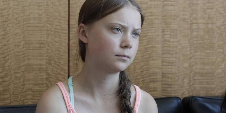 Die Klimaaktivstin Greta Thunberg, 16-year-old climate activist from Sweden, joins young climate activists in a FridaysForFuture protest in front of the UN Headquarters..Photo: /EuropaNewswire..PHOTO CREDIT MANDATORY. New York USA PUBLICATIONxINxGERxSUIxAUTxONLY - ZUMAra1_ 20190830_zap_ra1_021 Copyright: xLuizxRampelottox
