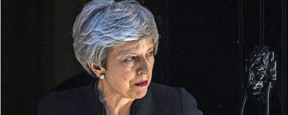 Theresa May am Dienstag in London.