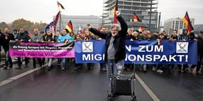 Demonstration der AfD gegen den Migrationspakt.