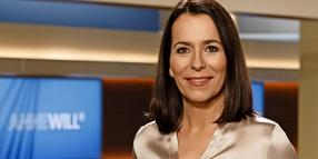 Moderatorin Anne Will im TV-Studio.