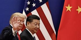 Donald Trump (links) und Xi Jinping im Mai in China.