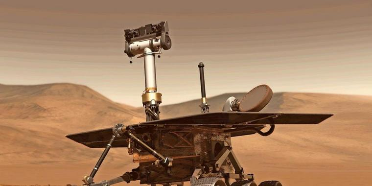 """Der Mars-Rovers """"Opportunity""""."""