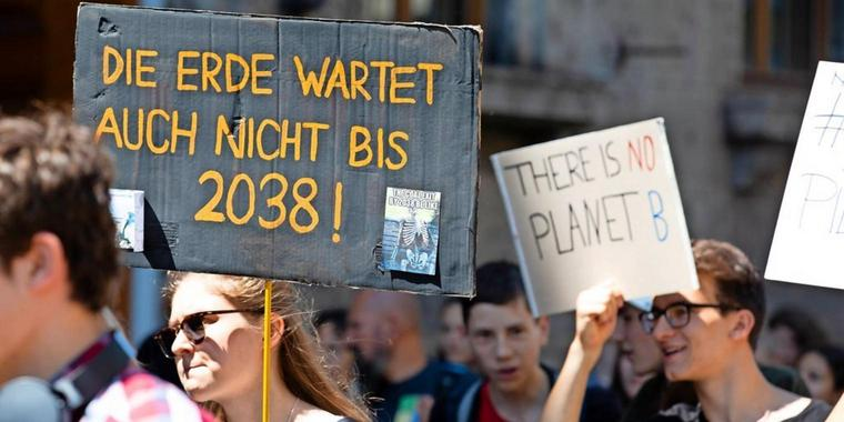 Fridays for Future in München.