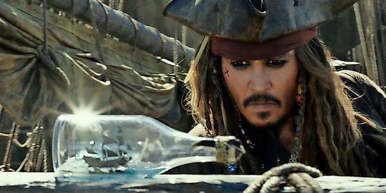 Johnny Depp als Pirat Jack Sparrow.