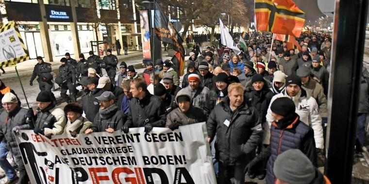 Pegida-Demonstration in Dresden (Archivbild).