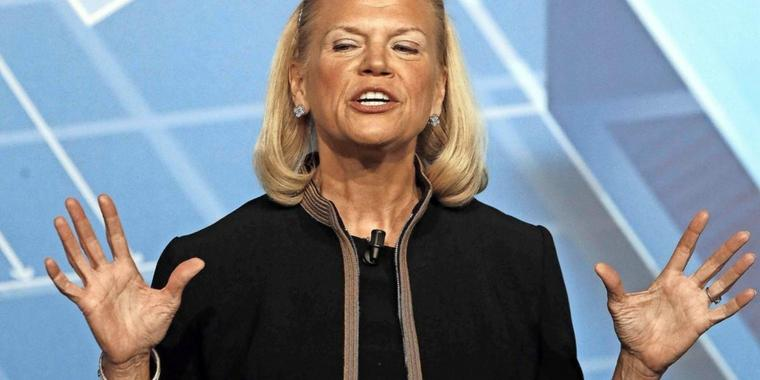IBM-Chefin Ginni Rometty kündigte 25.000 neue Jobs in den USA an.