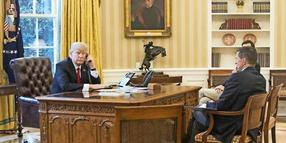 Präsident Donald Trump im Oval Office.