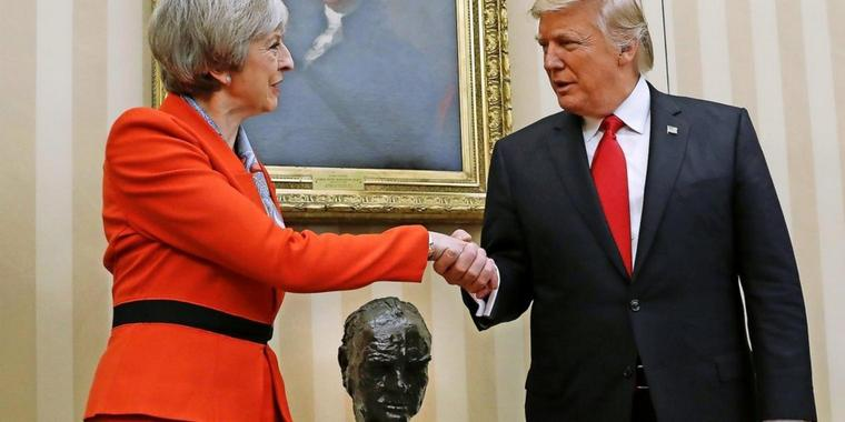 Theresa May und Donald Trump.