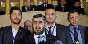 Mohammed Alloush, Chef der syrischen Opposition.