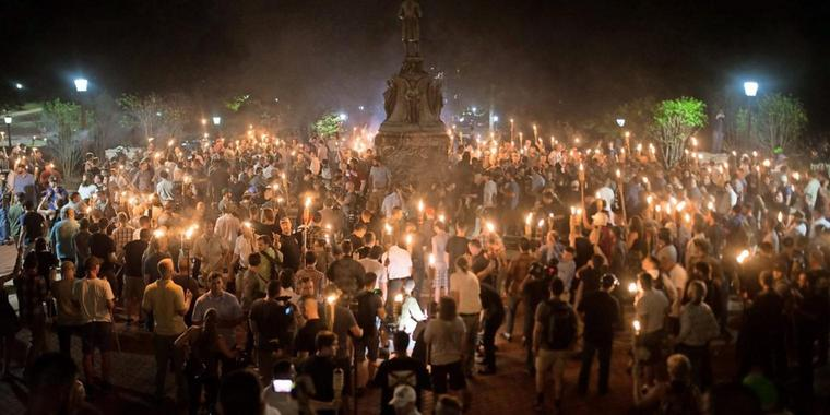 "Die ""Alt-Right-Bewegung"" in Charlotteville (Virginia)."