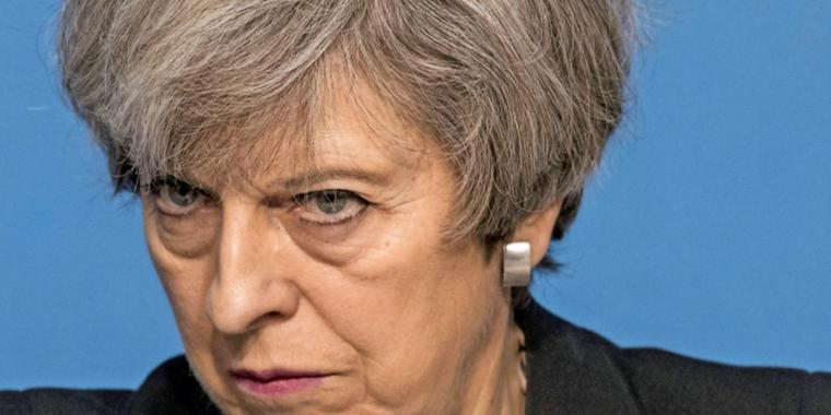 Not amused: Die Premierministerin Teresa May