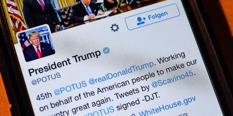 Trump mag am liebsten Trump: Der Twitter-Account des US-Präsidenten.